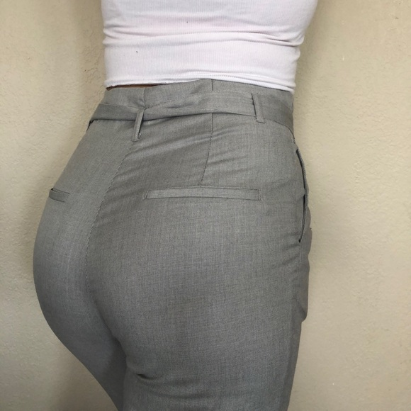 SOLD NWOT High rise trouser pants with belt